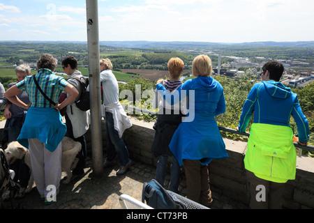 D-Dortmund, Ruhrgebiet, Westfalen, Nordrhein Westfalen, NRW, D-Dortmund-Syburg, Ardey Hills, Hohensyburg, Aussichtspunkt, - Stockfoto