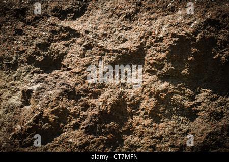 Steinstruktur mit Rauhigkeit Oberfläche hautnah - Stockfoto