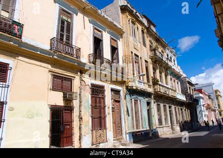 Kolonialen Gebäuden, La Havanna, Kuba - Stockfoto