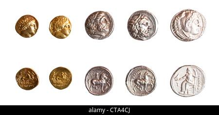 Antike Griechische Münzen Alexanders Des Großen Aus Der