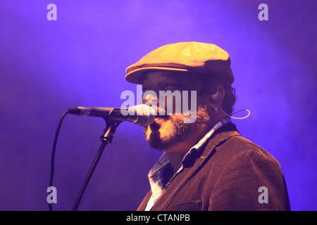 Kubanischer Sänger Francisco Cespedes Konzert im Los Suenos Marriott Resort, Costa Rica. - Stockfoto