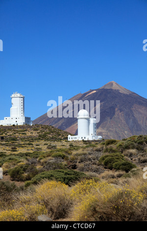 Spanien, Kanarische Inseln, Teneriffa, Pico del Teide, Sternwarte, - Stockfoto