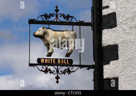 White Bull, höhere Straße, Longridge, Preston, Lancashire, UK - Stockfoto