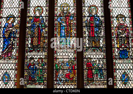 Glasfenster, Bath Abbey Somerset UK - Stockfoto
