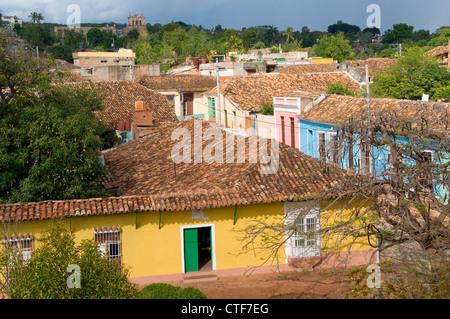 Panoramablick auf Trinidad, Trinidad, Kuba - Stockfoto