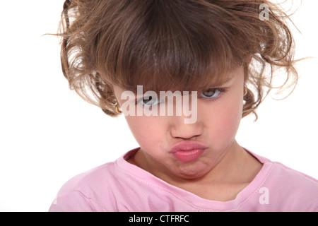 Eine stimmungsvolle kleine Mädchen - Stockfoto