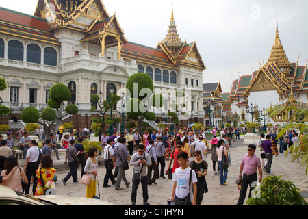 Charkri Mahaprasat Hall at The Grand Palace in Bangkok, Thailand. - Stockfoto