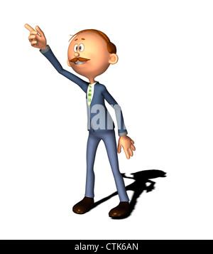 Cartoon Figur Mann - Stockfoto