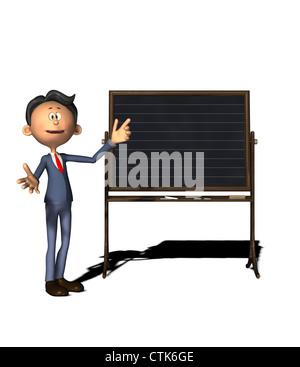 Cartoon-Figur-Lehrer mit board - Stockfoto