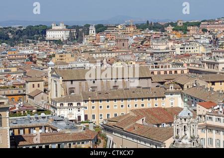 Rom-Gebäude von Vittorio Emanuel Monument betrachtet - Stockfoto