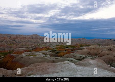 Bunten Felsformationen, Badlands Nationalpark, South Dakota, Vereinigte Staaten von Amerika - Stockfoto