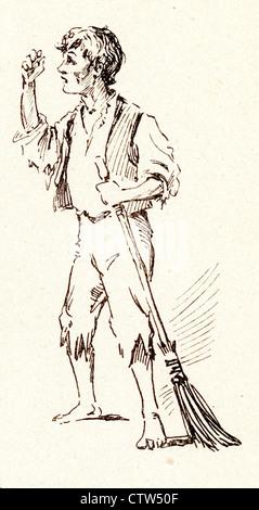 Armer Jo aus Bleak House von Charles Dickens - Stockfoto