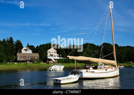 Segelschiffe in Kingston Bucht, Plymouth MA - Stockfoto