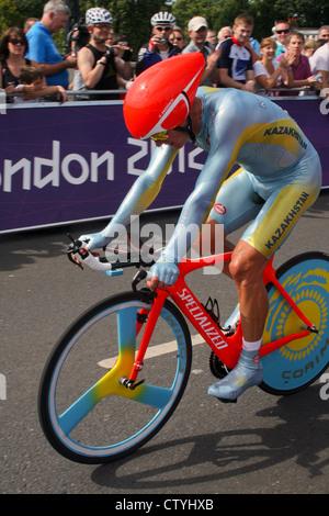 Alexander Vinokourov, Herren Zeitfahren, Olympiade 2012 in London. Foto von Kim Craig. - Stockfoto