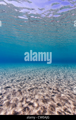 Ozean Hintergrund - Porträt Format Hintergrund der Sand plätschert, Schecken, Licht und eine Oberfläche Reflexion - Stockfoto