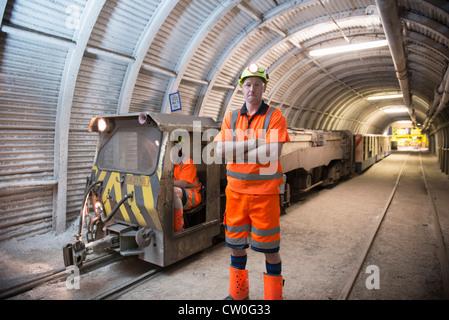 Operatoren arbeiten in Coal mine - Stockfoto