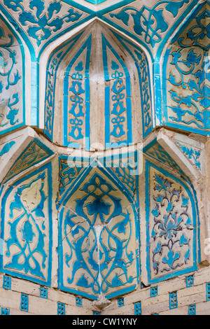 Detail der Ziegelei in Squinch, Mazlum Khan Slu Mausoleum, Mizdakhan, Karakalpakstan, Usbekistan - Stockfoto