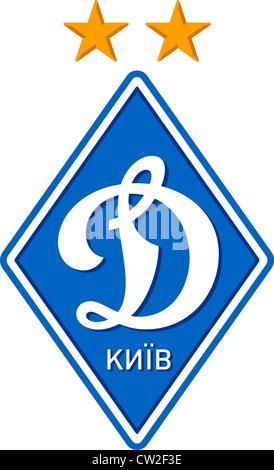 Logo der ukrainische Fußballmannschaft Dynamo Kyiv. - Stockfoto