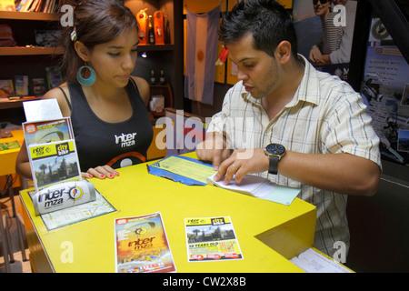 Mendoza Argentinien Avenida San Martin Inter MZA Tour Unternehmen Business Broschüre Attraktionen der Region gehört - Stockfoto