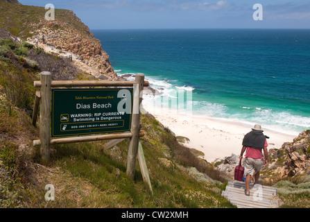 Dias, Strand Diaz, gelegen im Table Mountain National Park, Kapstadt, Südafrika - Stockfoto