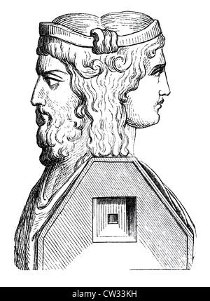 Büste von Janus - Stockfoto