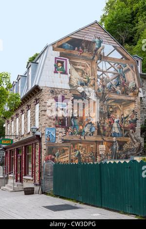 Fresque du Petit Champlain, Quebec City - Stockfoto