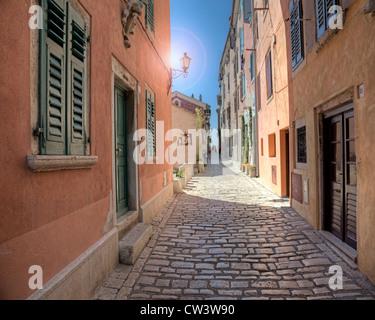 HR - Istrien: Historische Altstadt von Rovinj - Stockfoto