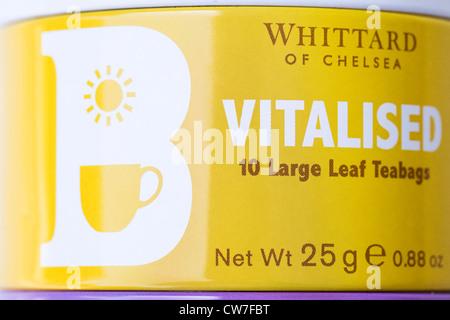 Bunte Whittard Teedosen. - Stockfoto