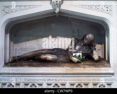 Shakespeare-Denkmal in Southwark Cathedral, London - Stockfoto