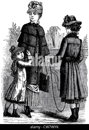 Damenmode in 1881 - Stockfoto