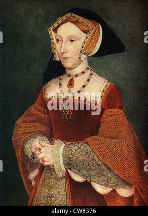 Hans Holbein (1497_1543?) dieses Porträt der Jane Seymour, die dritte Ehefrau von Heinrich VIII., zwischen 1536 - Stockfoto