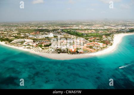 Luftaufnahme der Küste, aruba - Stockfoto
