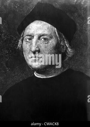 Italienische Entdecker und Seefahrer Christopher Columbus (1451-1506). Mit freundlicher Genehmigung CSU Archive/Everett - Stockfoto