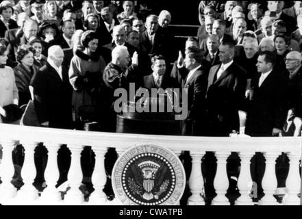Die Einweihung des Kennedy als Präsident, 1961. Höflichkeit: CSU Archive / Everett Collection - Stockfoto