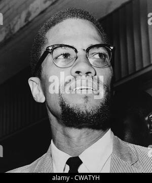 Malcolm X (1925 – 1965) im Jahr 1964, das Jahr, nahm einen moslemischen Namen el-Hajj Malik el-Shabazz und einer - Stockfoto