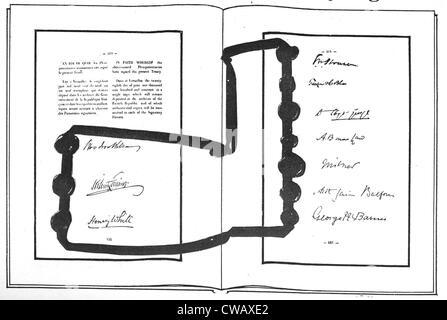 Ersten Weltkrieg Die Ersten Beiden Seiten Von Unterschriften Auf