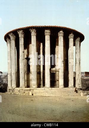 Rom, Vesta Tempel, Rom, Italien, ca 1890er Jahre - Stockfoto