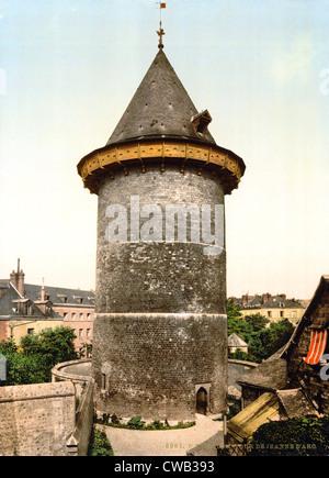 Joan of Arc, Joan of Arc Turm, Rouen, Frankreich, Photochrom, 1890-1900. - Stockfoto