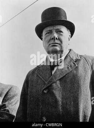 Winston Churchill (1874-1965), Großbritanniens während des Krieges führend in 1942. - Stockfoto