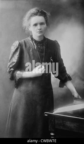Marie Curie (1867-1934), polnisch-französischer Physiker, der zwei Nobelpreise für Physik 1903 und 1911 für Chemie - Stockfoto