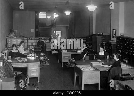 Büro der Underwood Schreibmaschine Firma in Washington, DC, ca. 1910. - Stockfoto