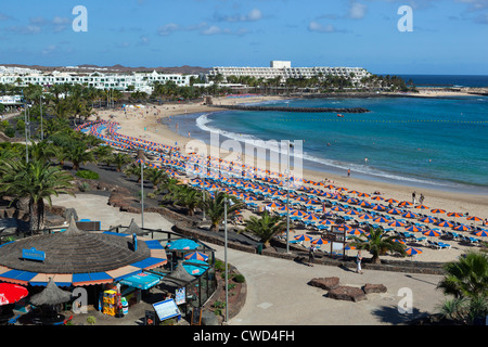 Blick auf Playa de Las Cucharas - Stockfoto