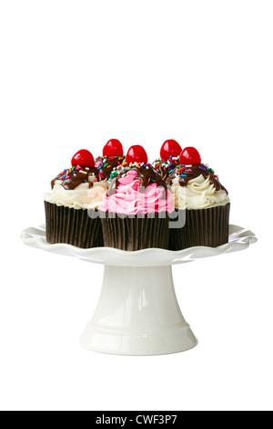 Kirsch-Muffins - Stockfoto