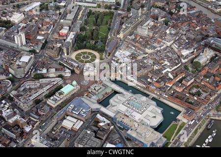 Luftaufnahme des zentralen Hull, East Yorkshire - Stockfoto