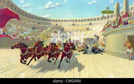 Chariot Rennen, Wagenrennen, Ben Hur Wagenrennen - Stockfoto