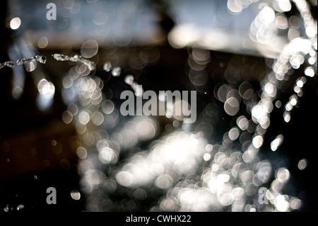Wassertropfen, Injektion, Lichtpunkte - Stockfoto
