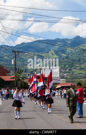 Independence Day-Parade in Costa Rica - Stockfoto