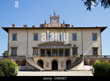 Renaissance-Villa Medici Poggio eine Caiano, Florenz, Toskana, Italien - Stockfoto