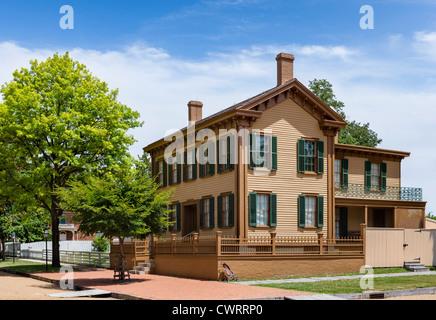 Die historische Heimat von Abraham Lincoln in der Lincoln Home National Historic Site, Springfield, Illinois, USA - Stockfoto