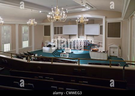 Heiligtum der First Baptist Church von Winter Haven in Zentral-Florida - Stockfoto
